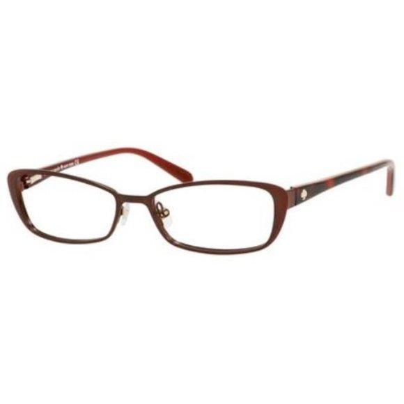 KATE SPADE  LIDIA Chocolate Red Cat Eye Eyeglasses